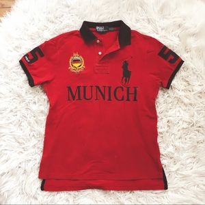 • Polo by Ralph Lauren • Munich Red Short Sleeve M